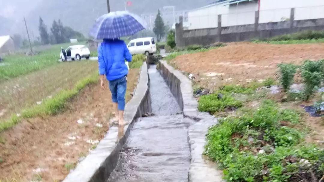 村民发现10天内德柳锰3次趁雨天排黑水,送检污水流过