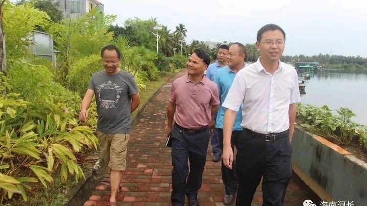 三亚市海棠区区委书记刘冲巡查调研藤桥西河、藤桥东河