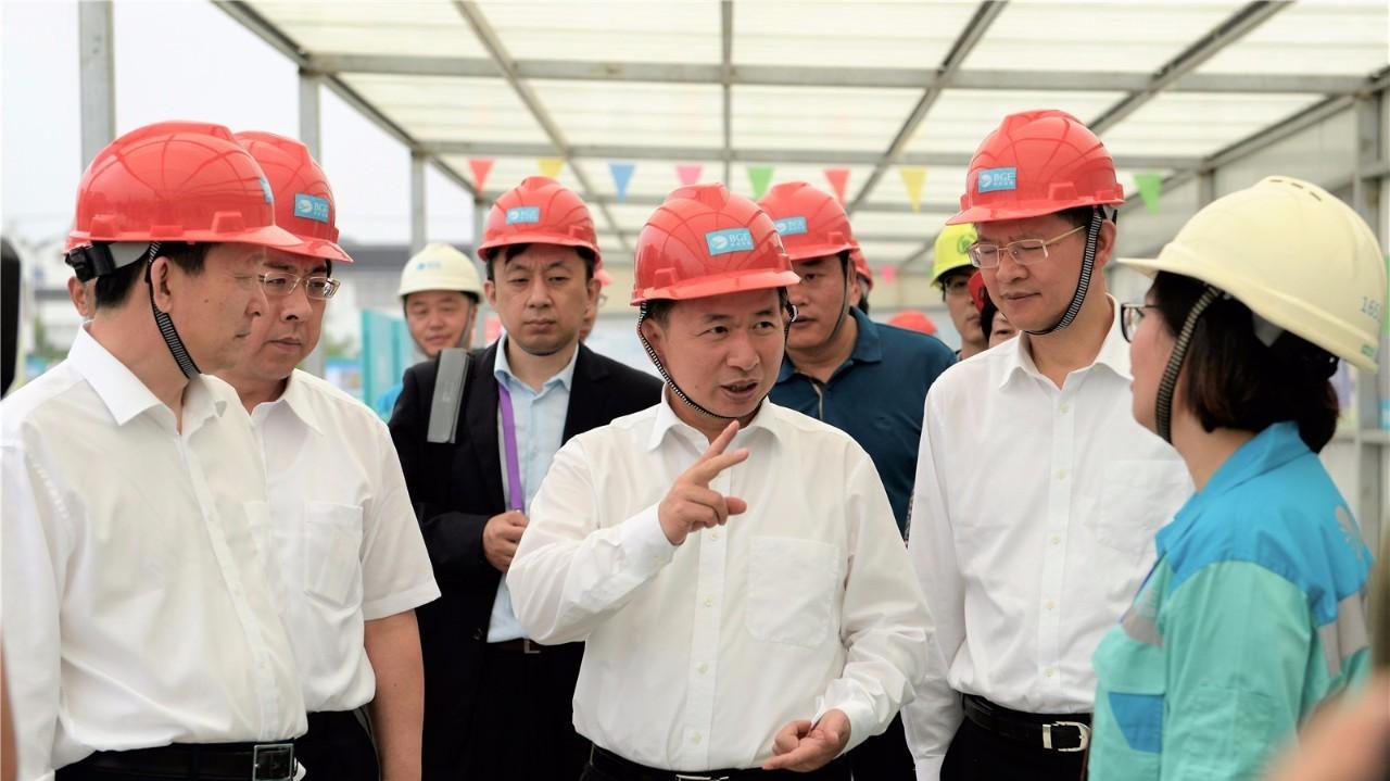 生态环境部部长李干杰调研高能环境苏化项目