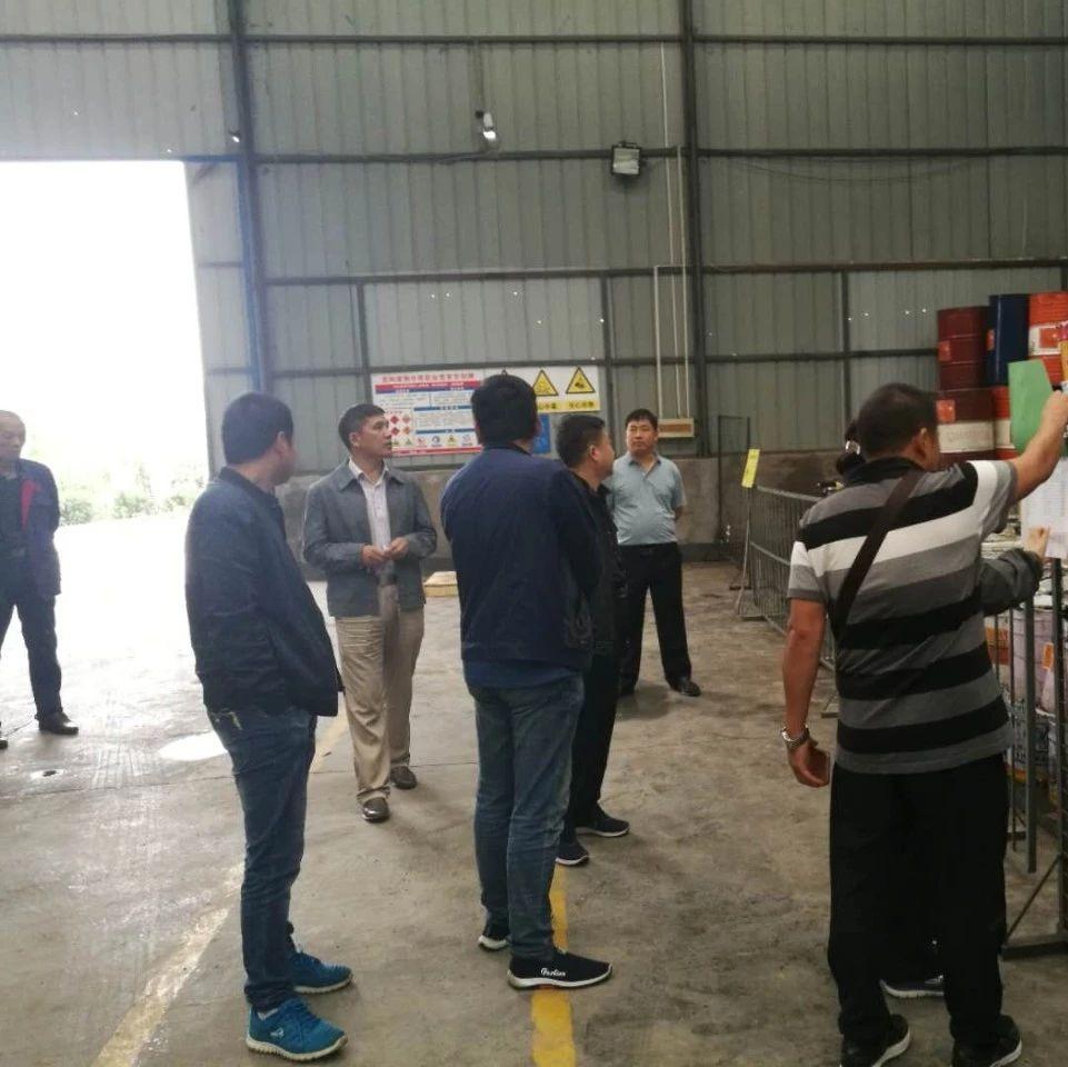 省危废规范化管理考核组对洛阳市新安县一企业进行现场考核
