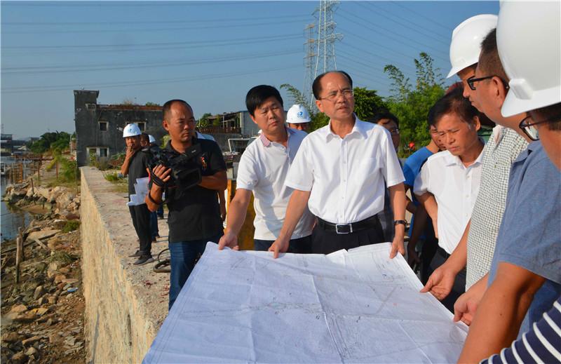 汕头市市长郑剑戈带队前往潮阳区、潮南区调研练江整治