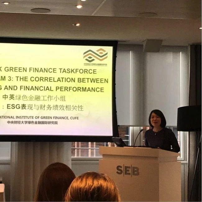 中财大绿金院参加第三次中英绿色金融