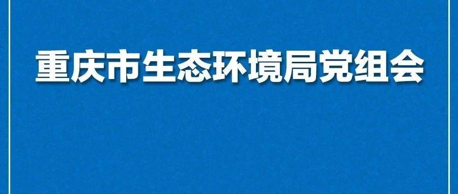 重庆市生态环境局召开2019年第6次党组