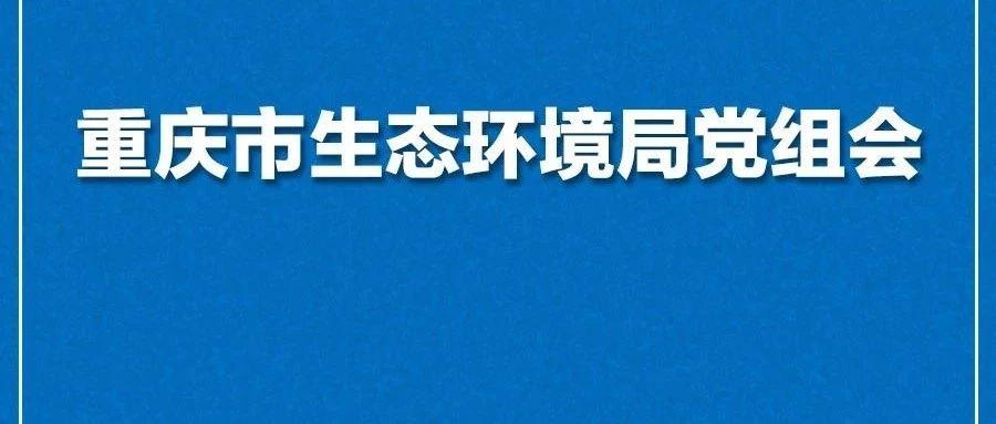 重庆市生态环境局召开2019年第7次党组