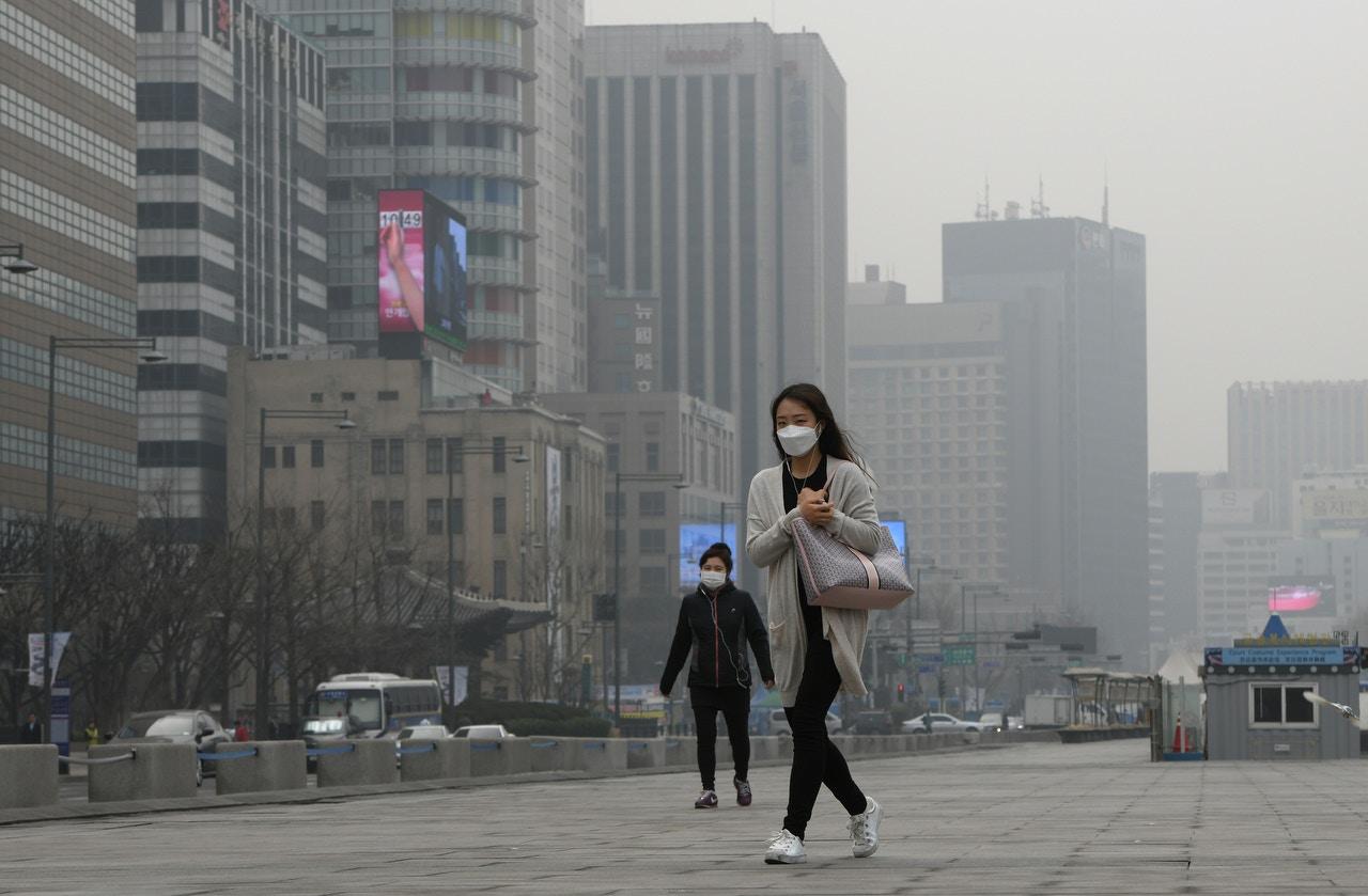首尔空气污染超标 文在寅呼吁中