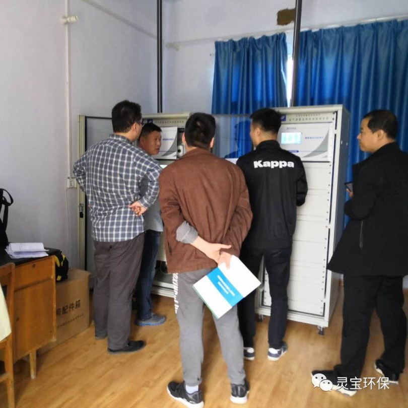 河南省生态环境厅检查灵宝市乡镇空气自动监测站建设