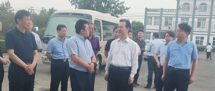 河北省副省长李谦调研中信环境技术高阳项目