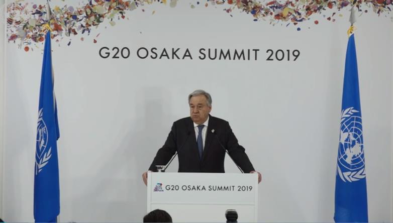 联合国秘书长呼吁二十国集团领导人加强对气候行动和经