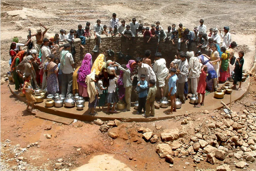 最高气温夏天来袭 65%的印度平民正饱受40℃热浪的煎熬