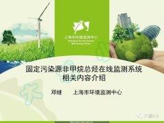 上海市固定污染源NMHC在线监测系统相关要求,get一下