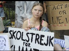 瑞典青少年气候活动家格蕾塔访问联合国