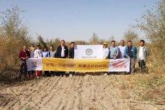 中国绿化基金会探访团奔赴新疆 相聚胡杨林