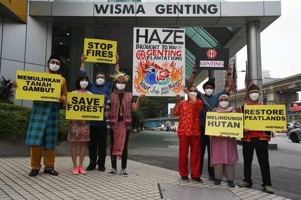 绿色和平组织指云顶集团涉嫌烧芭 解决林火非仅印尼责