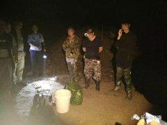 福建寿宁县警民总动员,四名电鱼人黑夜遭围捕!