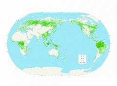 我国科学家首发最新全球30米分辨率森林覆盖分布图