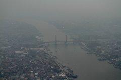印尼苏门答腊泥炭地 火灾肆虐空拍纪实