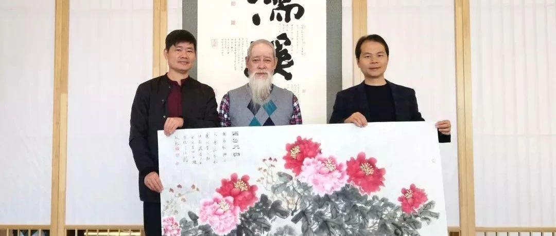 """中国菱眼猫画法创始人王纯祥,""""猫痴""""白骏一行到古田"""