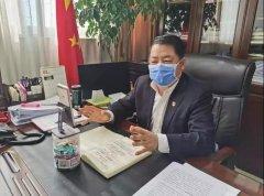 河南省生态环境厅利用云视讯召开厅务