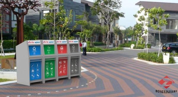 2020年垃圾分类时代,鸿鑫嘉和推出新型分类垃圾桶设备