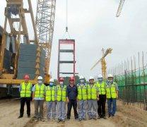 中国恩菲投资并总承包的固安生活垃圾焚烧发电项目1#锅