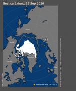 北极海冰范围达到史上第二低值,总体