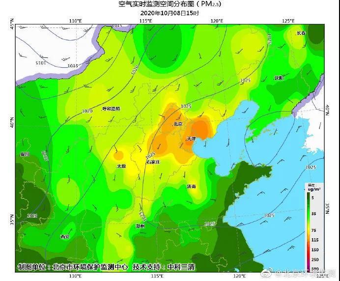 北京市大气污染扩散条件不利引发PM2.5污染