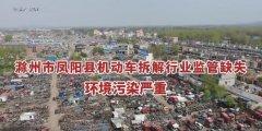 安徽省滁州市凤阳县机动车拆解行业监管缺失 环境污染