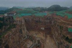 广西岑溪市花岗岩矿山粗放式开采 生态