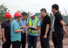 自贡市领导现场督导自贡东站配套设施