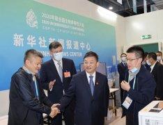生态环境部部长黄润秋看望参加COP15报